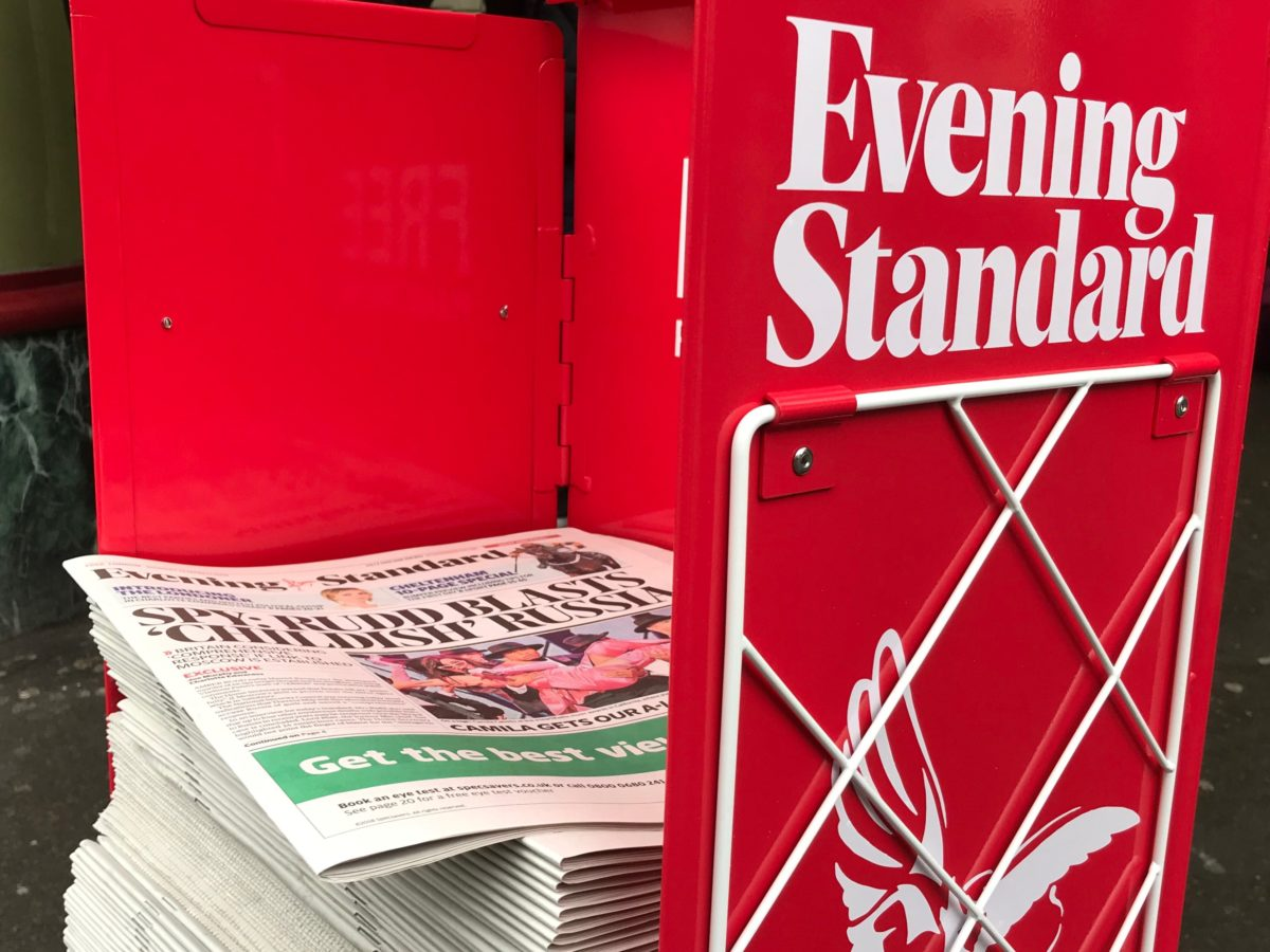 Evening Standard to cut editorial roles in merger of digital and print teams