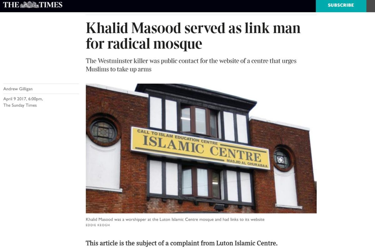 Sunday Times defends IPSO doorstepping complaint with recording of encounter