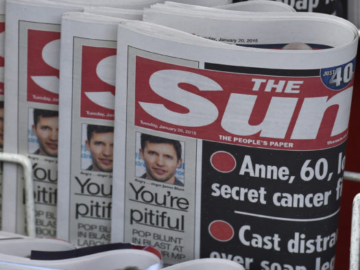 The Sun loses £201m before tax as revenues fall in year to June 2020