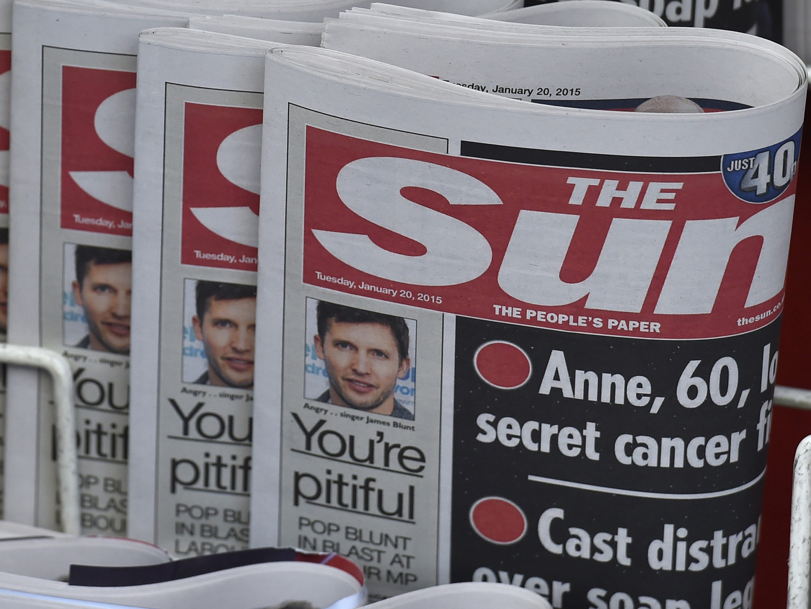 Job cuts to fall at The Sun after pre-tax losses triple