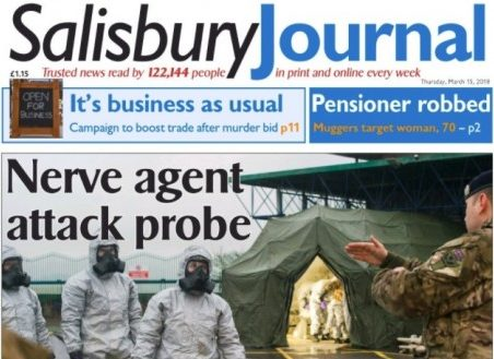 Salisbury Journal editor says website traffic 'booming' amid Russian spy poisoning saga as PM backs local campaign