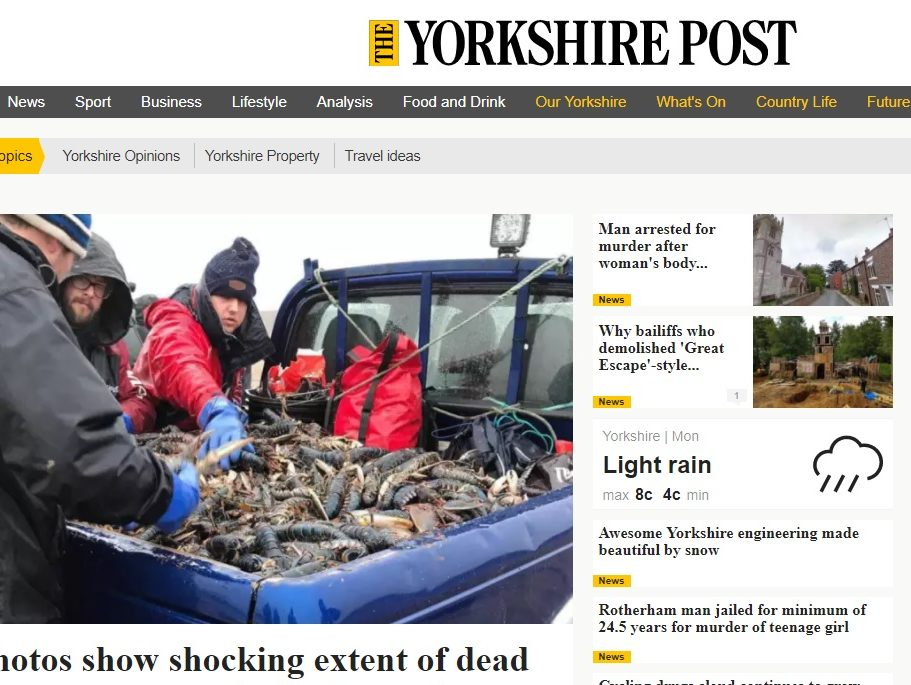 Regional ABCs online: Johnston Press' Yorkshire dailies offset print circulation drop with sharp rise in web traffic