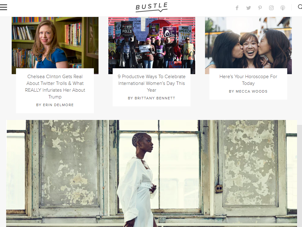 Millennial female-focused news and lifestyle website Bustle to expand by opening first UK office