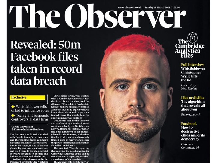 The Observer fought off legal threats from Facebook and Cambridge Analytica before publishing data harvesting scoop