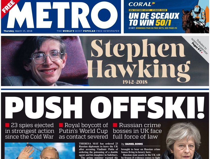 National newspaper ABCs: Metro climbs above The Sun's total circulation as Mirror and Telegraph titles post double-digit drops