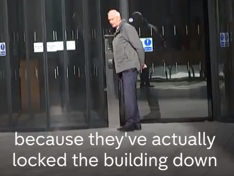 Facebook 'locks down' building as Channel 4 News presenter Jon Snow looks for answers on data scandal