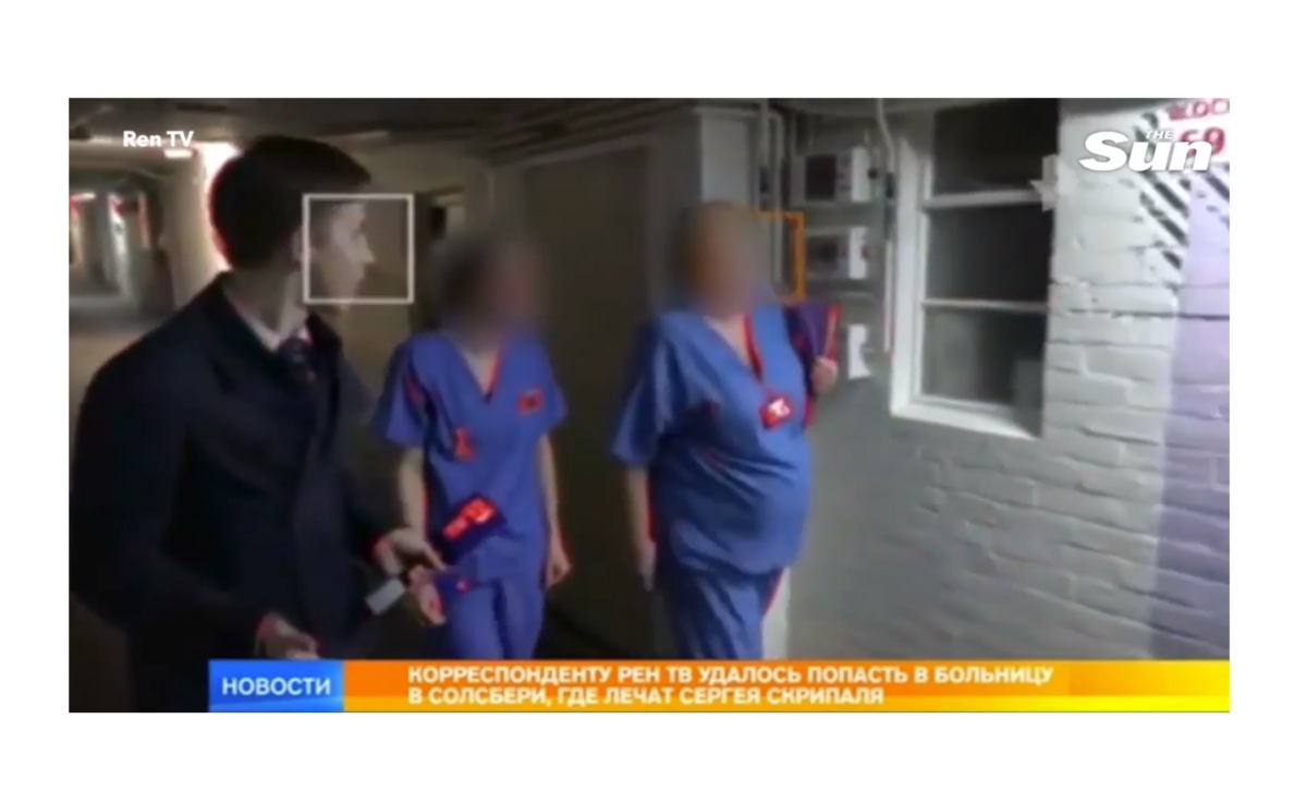 Russian TV news reporters condemned for 'appalling behaviour' after sneaking in to film at Salisbury hospital caring for Sergei Skripal
