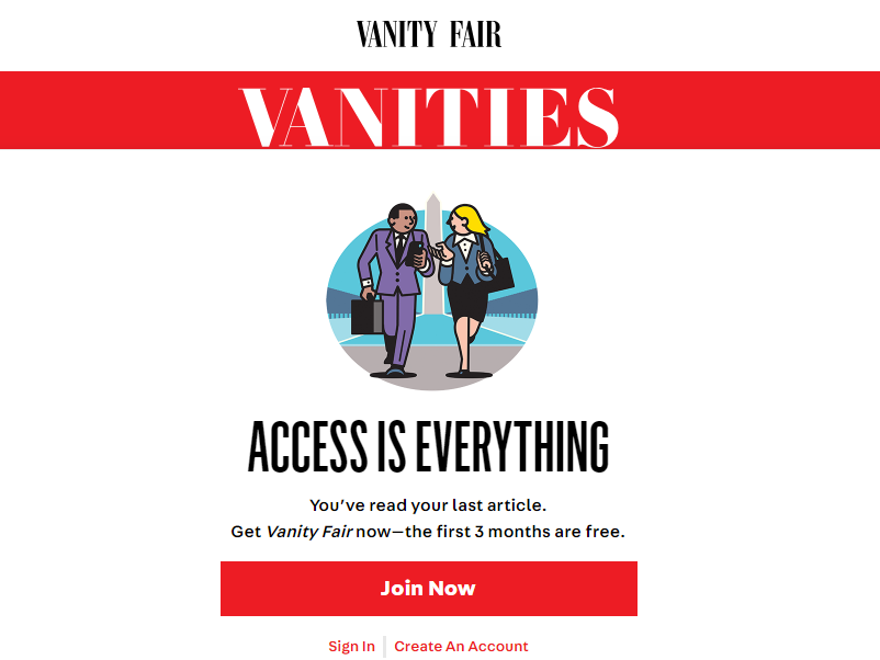 Vanity Fair goes behind paywall as editor says subscriptions enable it to invest in reporting