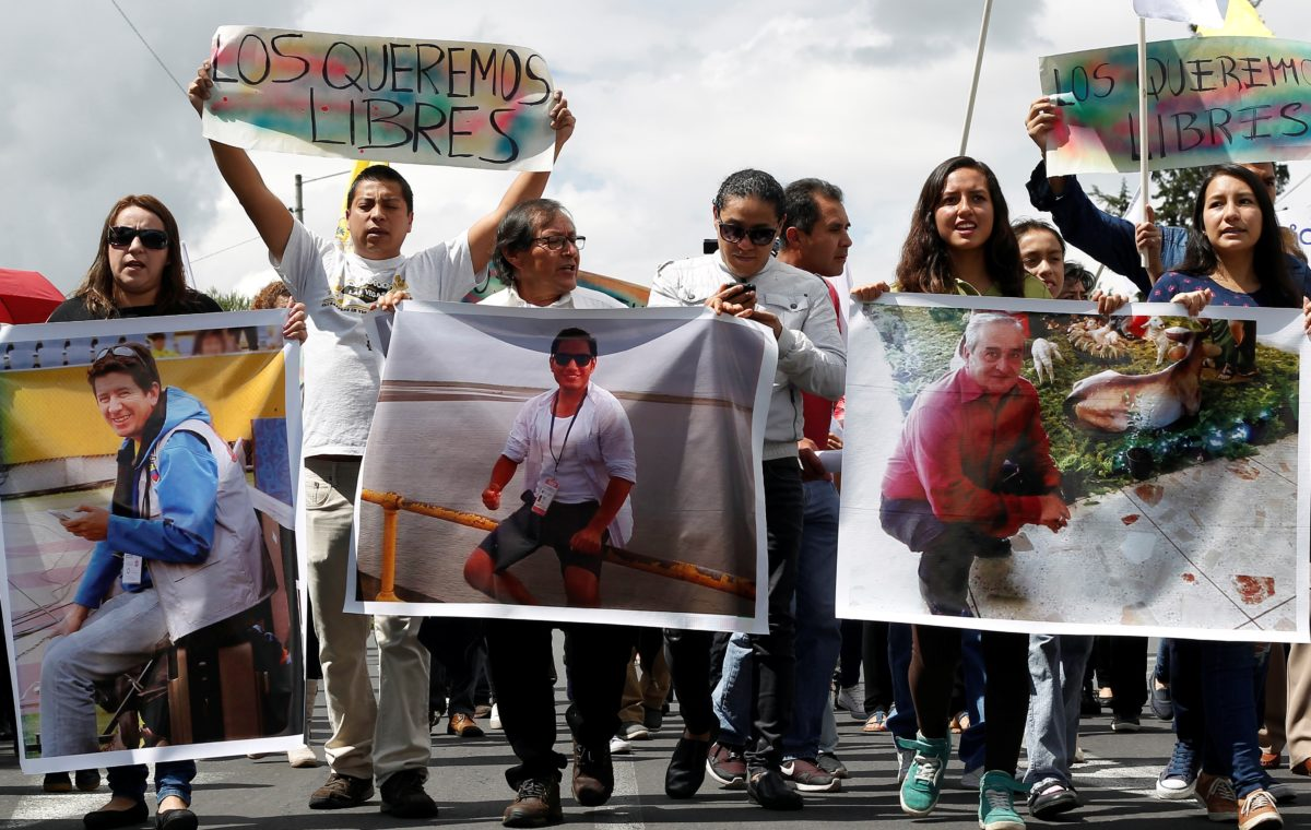 'Highly likely' three press workers kidnapped along border between Ecuador and Colombia have been killed