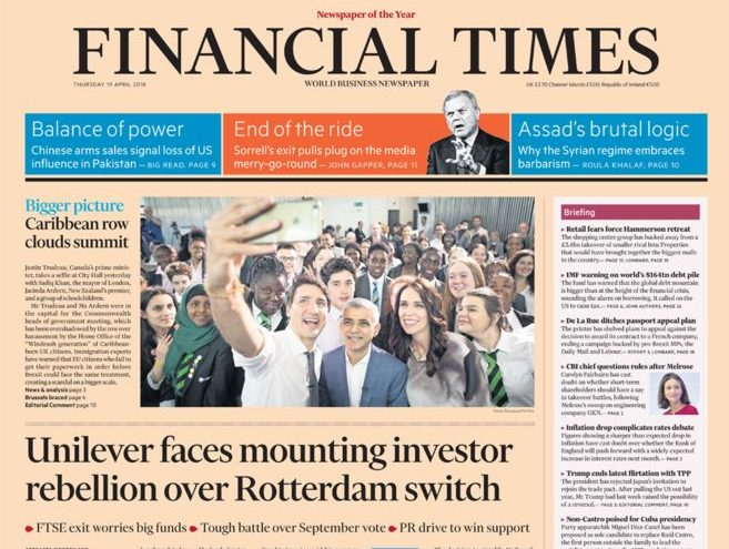 FT drops traditional 'Sir,' greeting from letters to the editor as it rebrands comment section