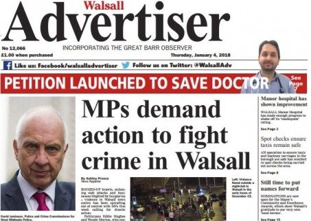 Trinity Mirror weekly the Walsall Advertiser to close amid cutbacks three months after merger with neighbouring title