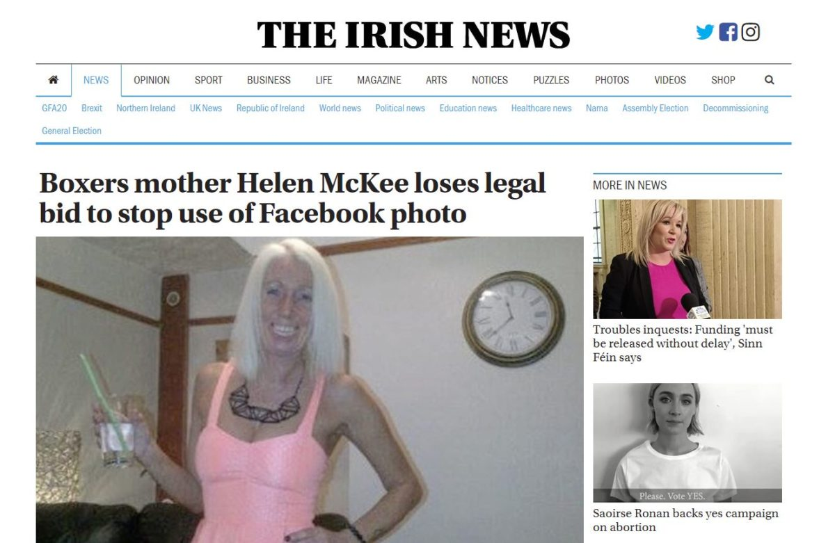 High Court backs Irish newspaper's use of Facebook pic for story on mother who admitted smuggling drugs to jailed son