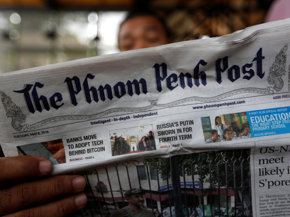 Editor and 13 staff quit Cambodia's Phnom Penh Post after new owner calls for article about him to be removed
