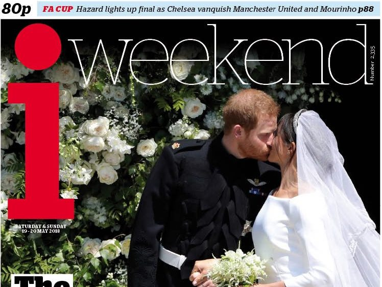 The i puts out special Sunday edition to cover Royal Wedding as Prince Harry and Meghan Markle's big day fills front pages