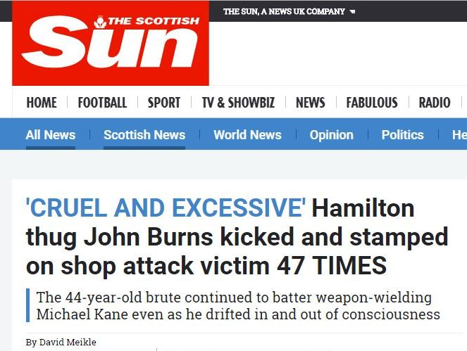 IPSO upholds accuracy complaint against Scottish Sun after it reported attacker as 'boozed-up' during onslaught when he was in fact sober