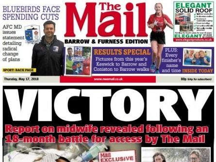Regional daily The Mail wins 18-month battle to grab report withheld by nursing bosses after baby deaths