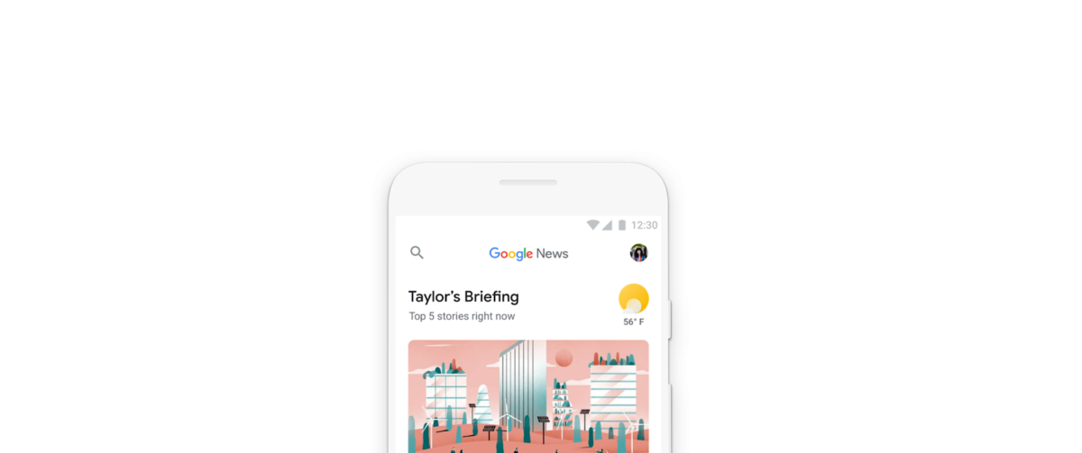 Reimagined Google News service uses artificial intelligence to highlight 'great reporting done by journalists around the globe'