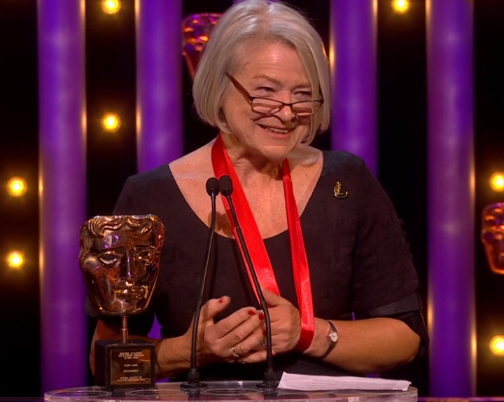 BBC's Kate Adie says being a reporter is an 'absolute privilege' as she accepts Bafta Fellowship