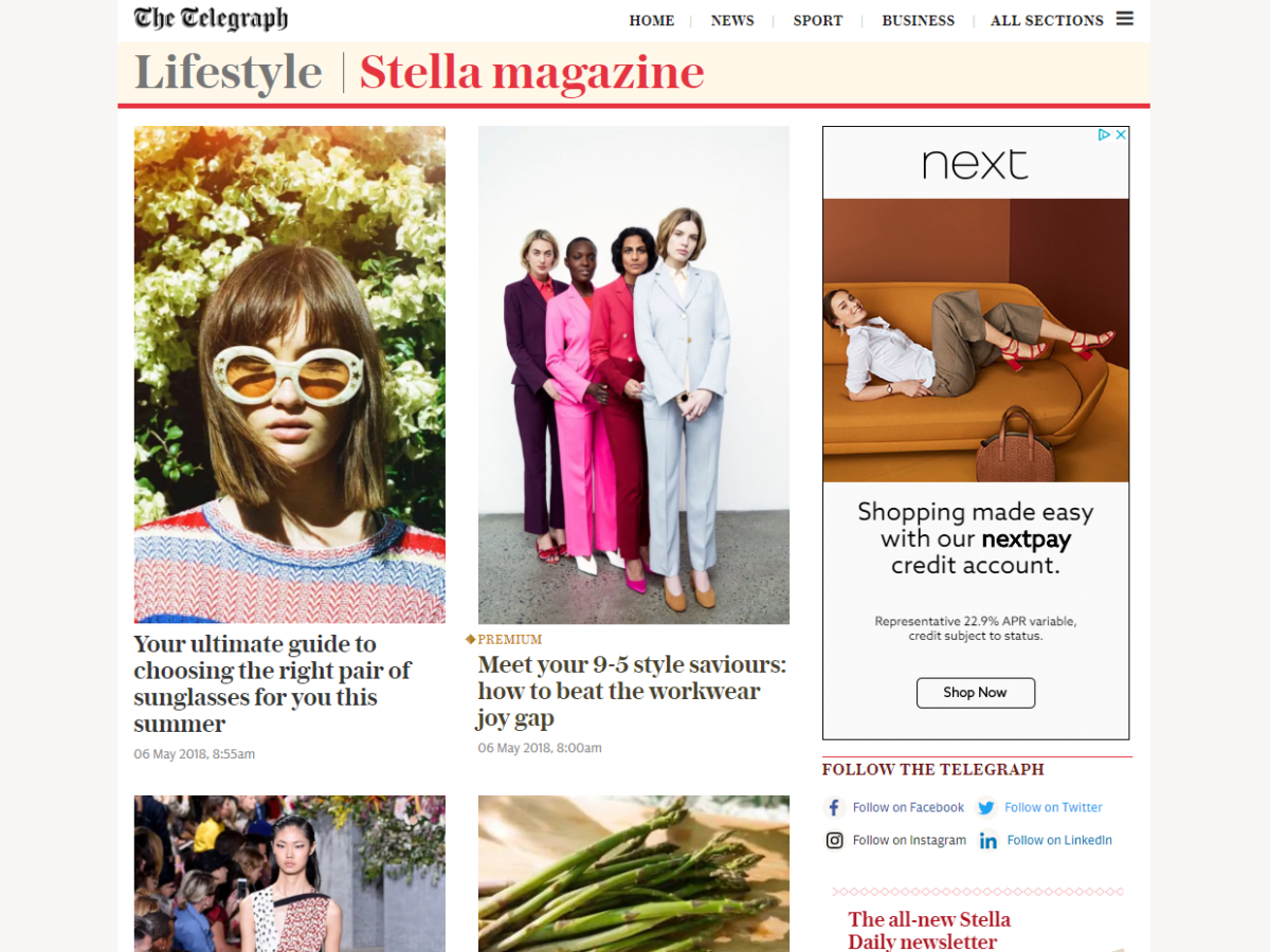Telegraph launches new seven-day Stella newsletter aimed at 'stylish, smart and savvy' women