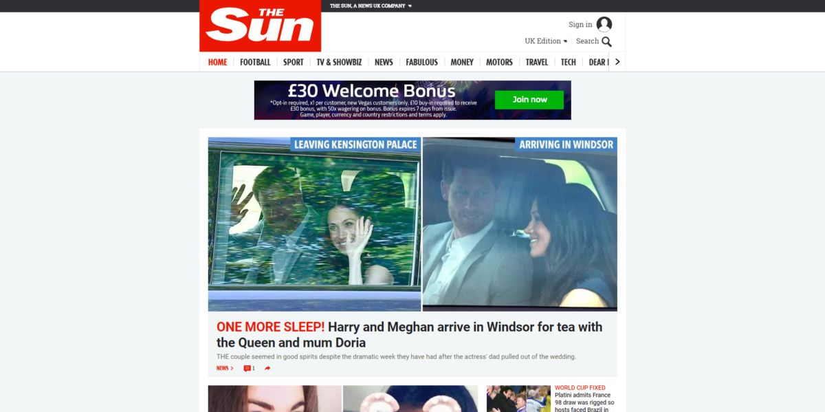 The Sun overtakes Mail Online to become UK's biggest online newsbrand, latest Comscore data shows