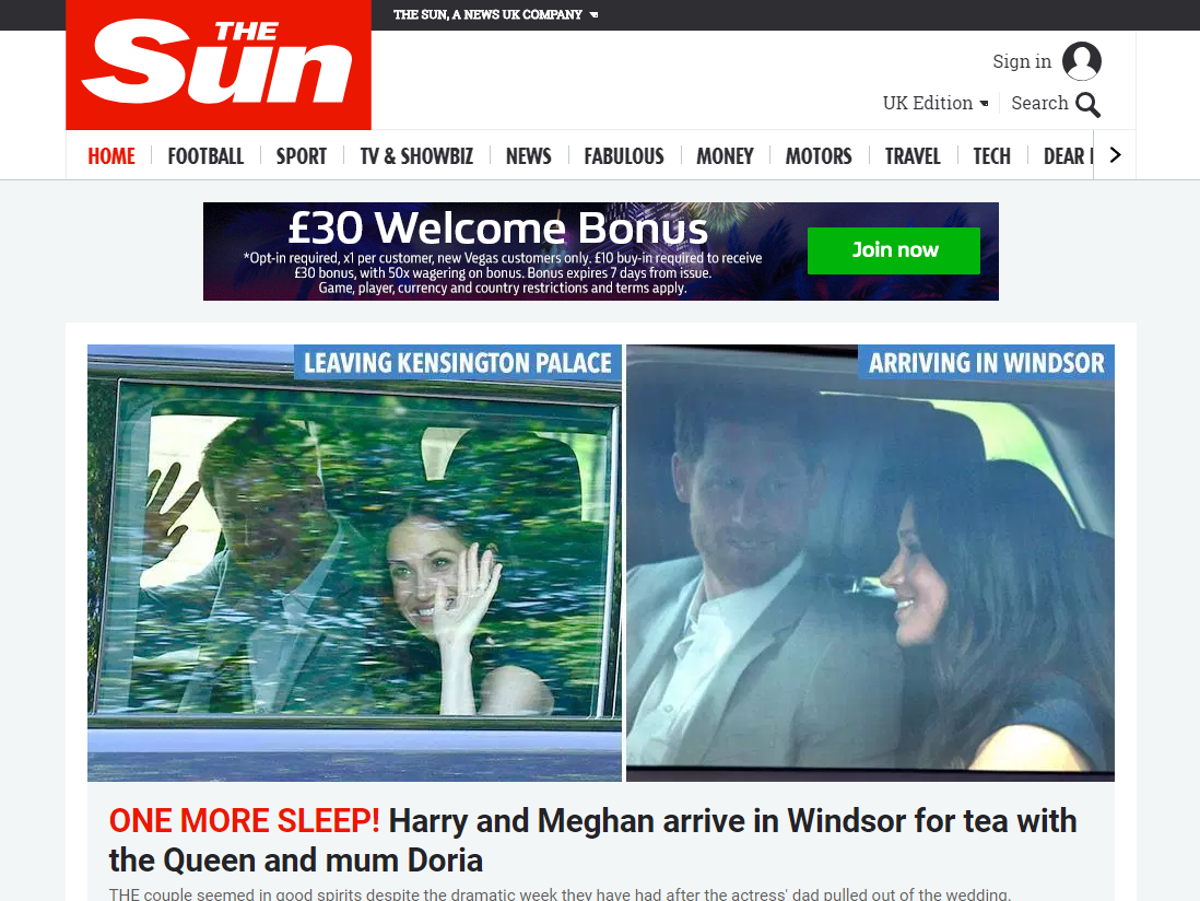 The Sun Says It Has Overtaken Mail Online To Become UKs Biggest Newspaper Brand Citing Latest Comscore Audience Data