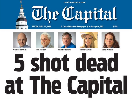 Capital Gazette colleagues pay tribute to five victims of US newsroom attack