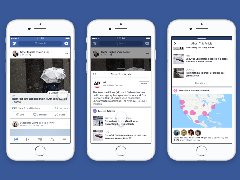 Facebook to remove trending news section and show background detail about news publishers and articles in source credibility drive