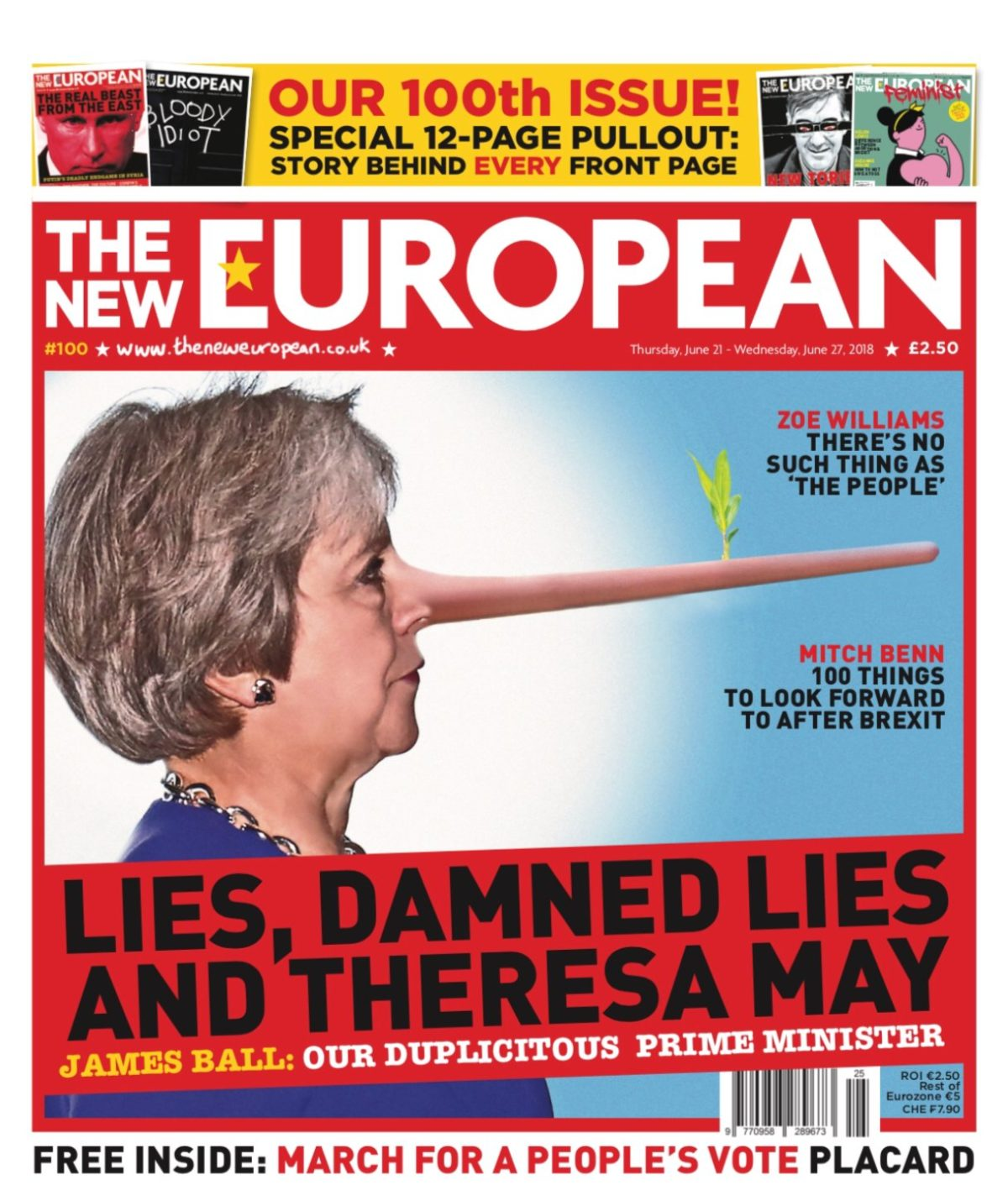The New European publishes 100th issue after starting as 'pop-up' paper only planned for four-week run