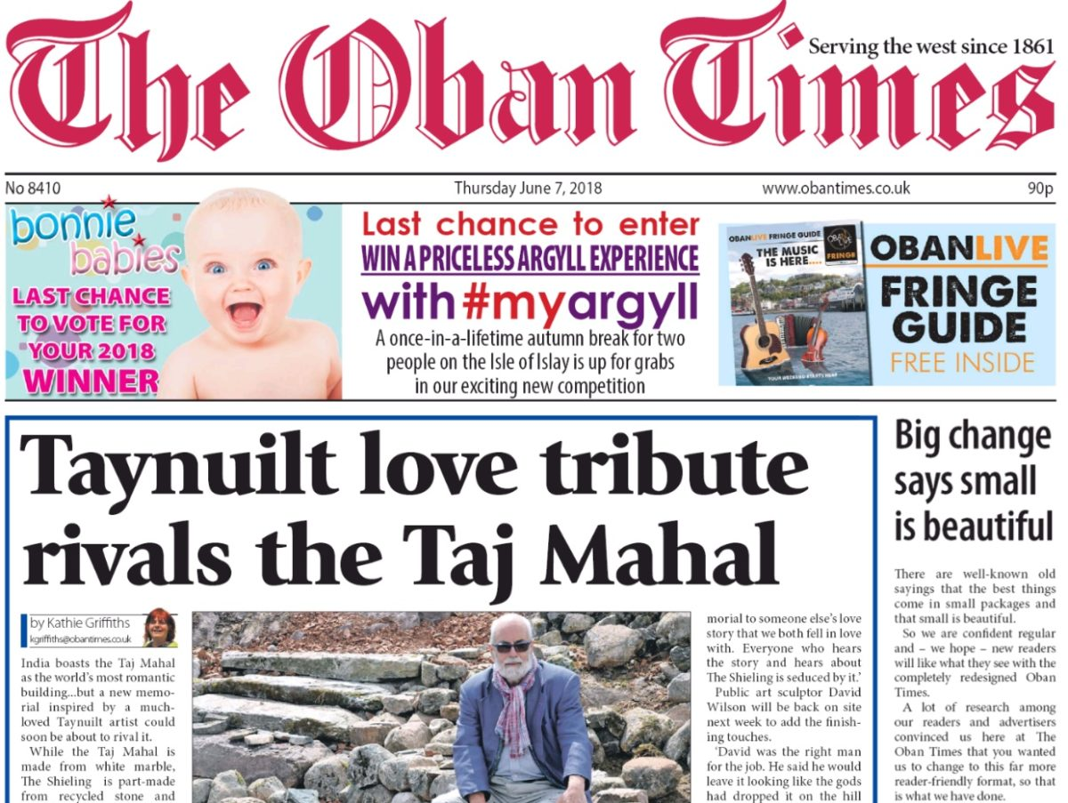 Oban Times goes compact after more than 150 years to be more 'reader-friendly' and 'bold'