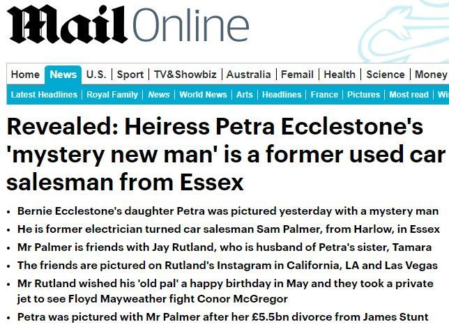 Mail Online breached code by revealing crimes of man's family in article speculating on his romance with famous heiress, IPSO rules