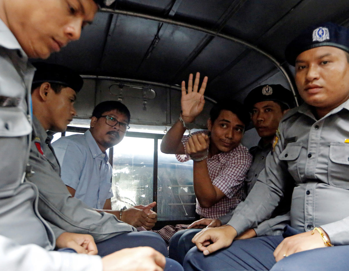 Reuters 'deeply disappointed' as reporters charged under Official Secrets Act in Myanmar but defiant pair says 'we will not retreat'