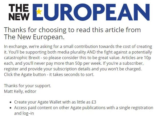 The New European looks to capitalise on 'growing' website traffic with partial micro-paywall