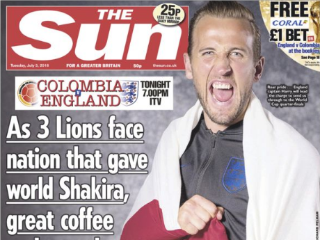 Colombia's UK ambassador complains about Sun's front page allusion to country's cocaine trafficking problem in 'Go Kane!' headline