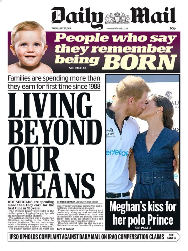 Daily Mail Front Page 30th of June 2020 - Tomorrows