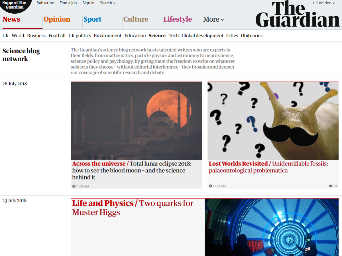 Guardian science and environment networks to close but papers says it remains 'firmly committed' to wide-ranging coverage on topics