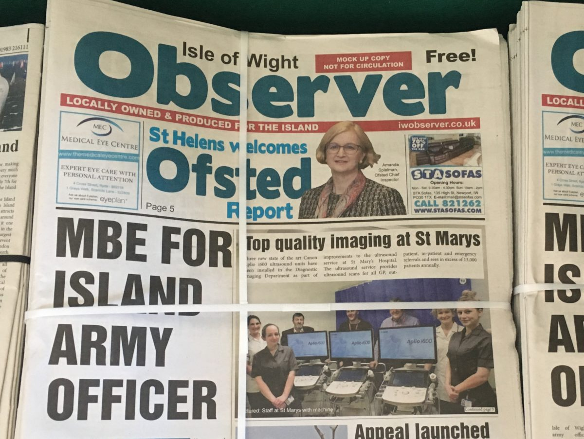 Free newspaper to launch on Isle of Wight hoping to attract locals 'disheartened' by Newsquest buyout of County Press