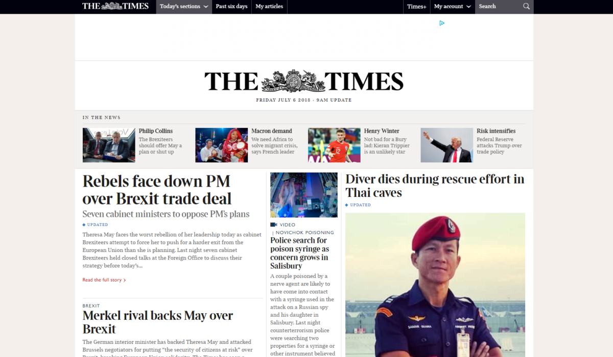 Times and Sunday Times hit 500,000 subscribers as digital outnumbers print for first time