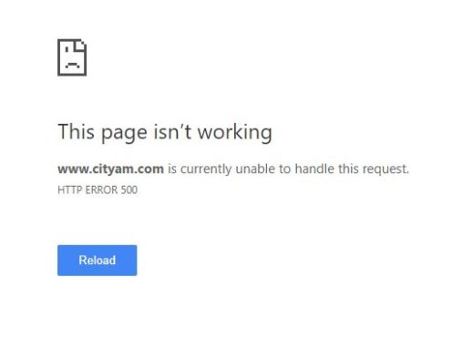 City AM news website downed for six hours by 'unprecedented technical issues'