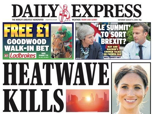 'Killer' heatwave headlines in UK press not yet backed by official statistics warns ONS healthcare expert