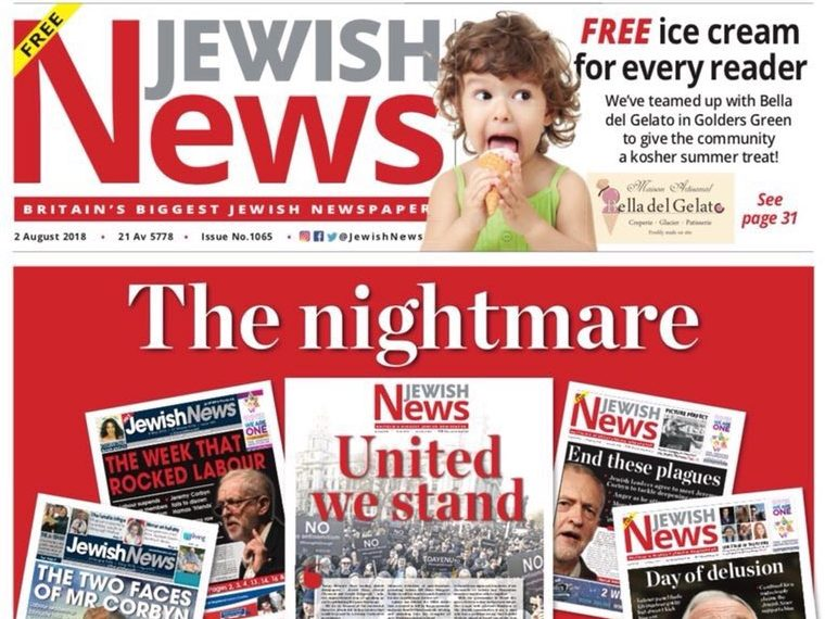 Jewish News foreign editor takes leave after criticising paper's coverage of Labour anti-Semitism row in Canary interview