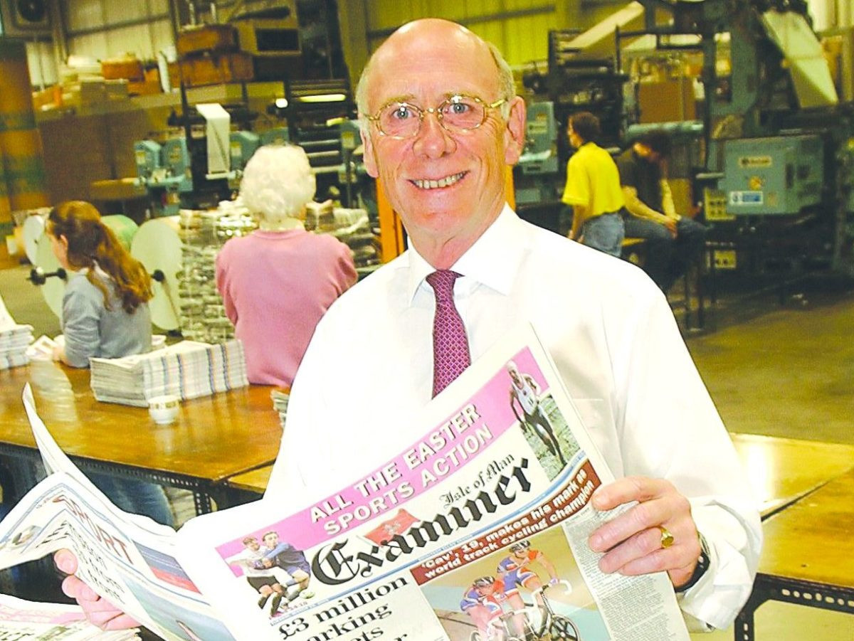 Former Isle of Man Courier editor of 30 years Lionel Cowin dies aged 73