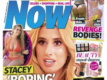 Now magazine says sorry to Stacey Solomon over cover story labelling her 'desperate and cheap' as star says it's 'meanest thing I've ever seen'