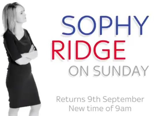 Sophy Ridge on Sunday to air at 9am on return to Sky News avoiding clash with new Marr show time on BBC