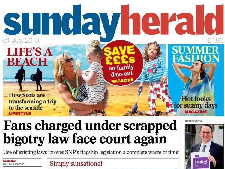 Sunday Herald and Glasgow Herald editorial teams to merge in Scotland, reports claim