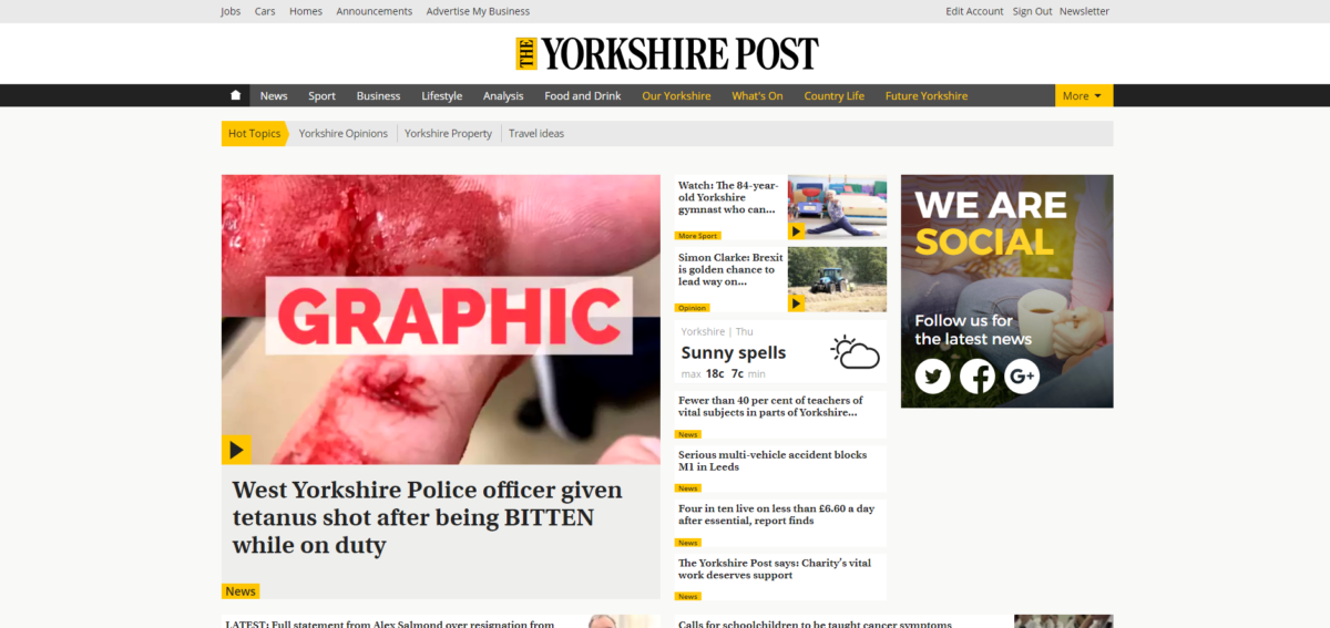 Regional online ABCs: Yorkshire Post is fastest growing news website