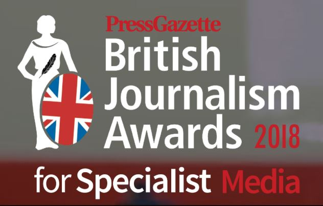 British Journalism Awards for Specialist Media 2018: Full shortlist for inaugural awards revealed