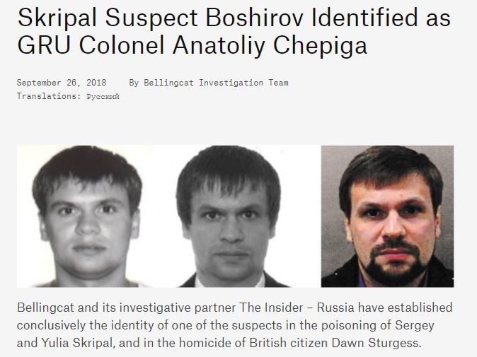 Bellingcat says no partnership deal made with Telegraph over Novichok 'assassin' scoop despite 'in conjunction with' claim