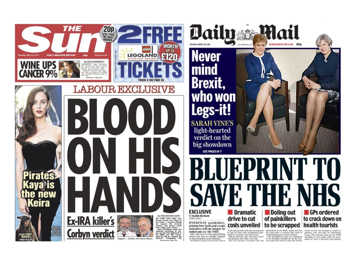 Sun's Jeremy Corbyn 'Blood on his Hands' splash and Daily Mail's 'Legs-it' front among most complained about stories in 2017, IPSO reveals