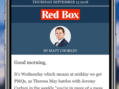 Red Box political newsletter goes behind paywall as Times says 'quality journalism should be paid for'