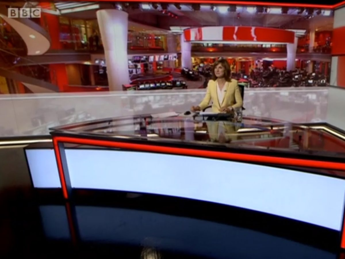 Police rush Fiona Bruce to BBC's Millbank studio for 6pm news bulletin after 'technical issue' with live broadcasts at HQ